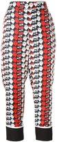 Victoria Victoria Beckham - strawberry print pyjama pants - women - Silk/Cotton/Polyester - 10