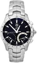 Tag Heuer Men's CJF7110.BA0592 Link Calibre S Stainless Chronograph 1/100th Watch