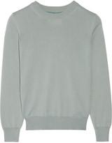 Maison Margiela Silk chiffon-paneled cotton sweater