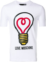 Love Moschino lightbulb print T-shirt - men - Cotton/Spandex/Elastane - M