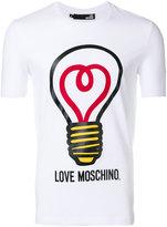Love Moschino lightbulb print T-shirt - men - Cotton/Spandex/Elastane - S