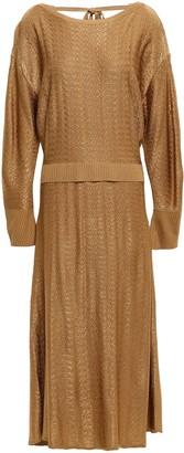 Esteban Cortazar Textured Knitted Midi Dress