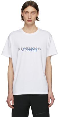 Givenchy White Logo Mix T-Shirt