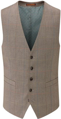 Skopes Dunstall Wool Blend Check Suit Waistcoat