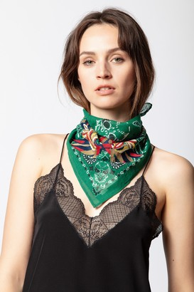Zadig & Voltaire Bandy Paisley Scarf