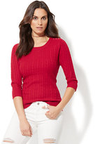 New York & Co. Cable-Knit Crewneck Sweater