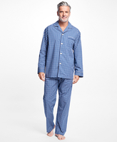 Brooks Brothers Graph Check Pajamas