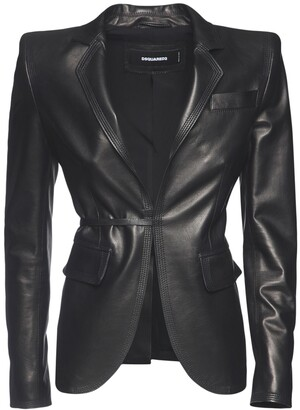 DSQUARED2 Roxy Heart Leather Jacket