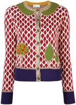 RED Valentino tree embroidery cardigan - women - Cotton/Polyester/Viscose/Wool - S