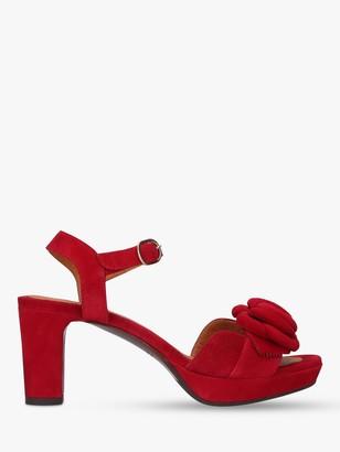 Chie Mihara Nu Blossom 36 Suede Cone Heel Platform Sandals