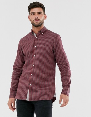 Tommy Hilfiger slim fit gingham check shirt in red