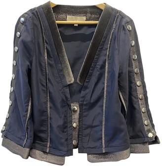 Heimstone Navy Cotton Jacket for Women
