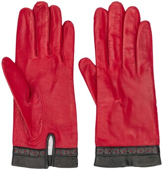 Céline Pre-Owned 1980/1990s Pre-Owned Perforated Detail Gloves