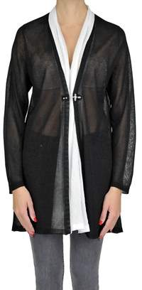 Fay Women's Black Viscose Cardigan.