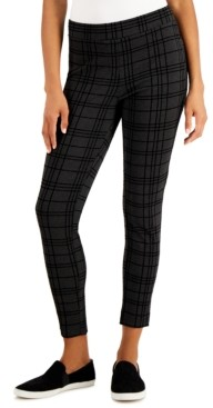 Style&Co. Style & Co Heathered Plaid Ponte Knit Pants, Created for Macy's