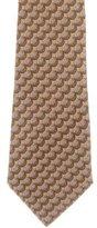 Hermes Boulder Print Silk Tie