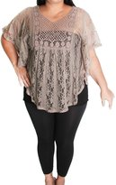 Libian Jr Plus Size Crochet Poncho Top