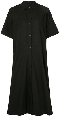 Lee Mathews Flared Mid-Length Shirt Dress