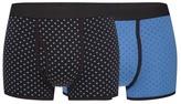 J By Jasper Conran Pack Of Two Blue Geometric Print Trunks