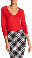 Trina Turk Evangeline Wool V-Neck Sweater