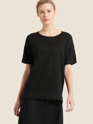 DKNY Donna Karan Women's Short-sleeve Pullover - Black - Size XX-Small