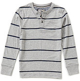 First Wave Big Boys 8-20 Striped Henley Shirt