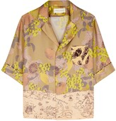 Thumbnail for your product : La Prestic Ouiston Hey printed silk-twill shirt