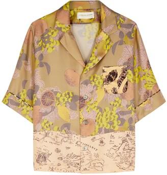 La Prestic Ouiston Hey printed silk-twill shirt