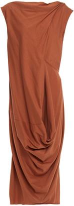 Rick Owens Draped Cotton-jersey Midi Dress