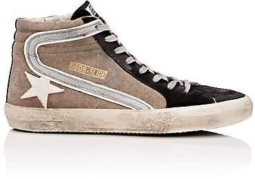 Golden Goose Men's Slide Canvas & Suede Sneakers - Beige, Tan