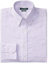 Lauren Ralph Lauren Men's Classic-Fit Non-Iron White Purple Stripe Dress Shirt