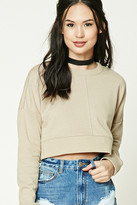 Forever 21 FOREVER 21+ Boxy Cropped Sweatshirt