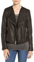 Andrew Marc Women's 'Riley' Textured Leather Moto Jacket