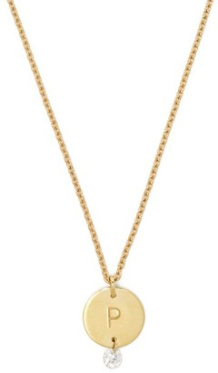 Raphaele Canot Set Free 18kt Gold & Diamond P-charm Necklace - Womens - Gold