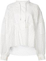 Sacai dot lace shirt - women - Cotton/Polyester - 2