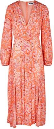 Rixo Camellia printed silk midi dress