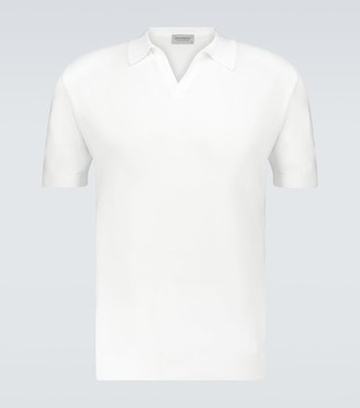 John Smedley Noah knitted cotton polo shirt