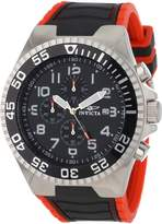 Invicta Men's 12412 Pro Diver Chronograph Dial and Red Polyurethane Watch
