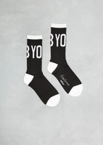 Yohji Yamamoto Black Yohji Logo Socks