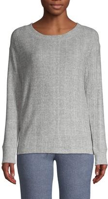 Felina Glenda Crewneck Ribbed Sweater