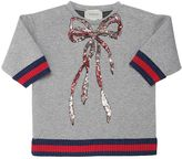 Gucci Sequined Bow Doubled Jersey Sweatshirt