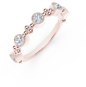 Forevermark Tribute Collection Diamond (1/2 ct. t.w.) Ring With Beaded Detail In 18 Yellow, White and Rose Gold
