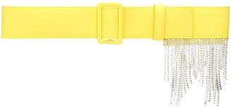 MSGM Crystal-Fringe Woven Belt