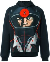 Christopher Kane target print hoodie - men - Cotton - XS