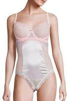 Mimi Holliday Sugared Almond Silk Blend Underwired Bodysuit