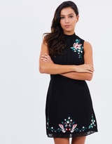 Lipsy Embroidered A-Line Dress
