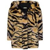 Kenzo KidsGirls Faux Fur Tiger Coat
