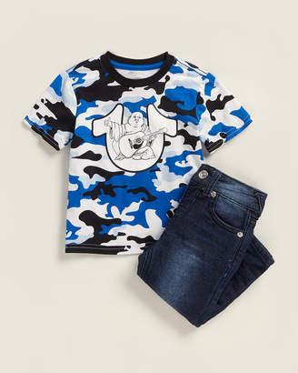 True Religion Newborn/Infant Boys) Two-Piece Camo Buddha Tee & Jeans Set