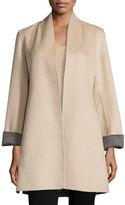 Neiman Marcus Double-Face Woven Cashmere Topper Jacket