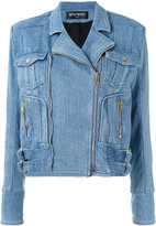 Balmain denim jacket - women - Cotton/Spandex/Elastane/Viscose - 40